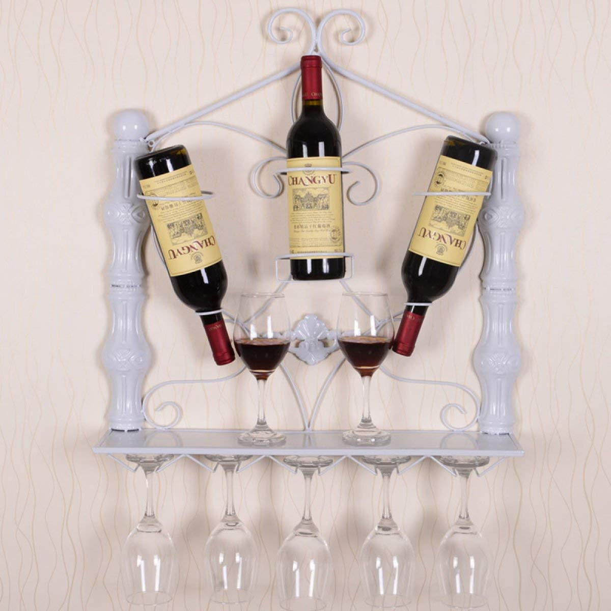 YHEGV Estantes para vinos Estante de Vinilo para Pared Europea ...