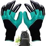 Garden Genie Gloves, Waterproof Garden Gloves with Claw For Digging Planting, Best Gardening Gifts for Women and Men. (Green)
