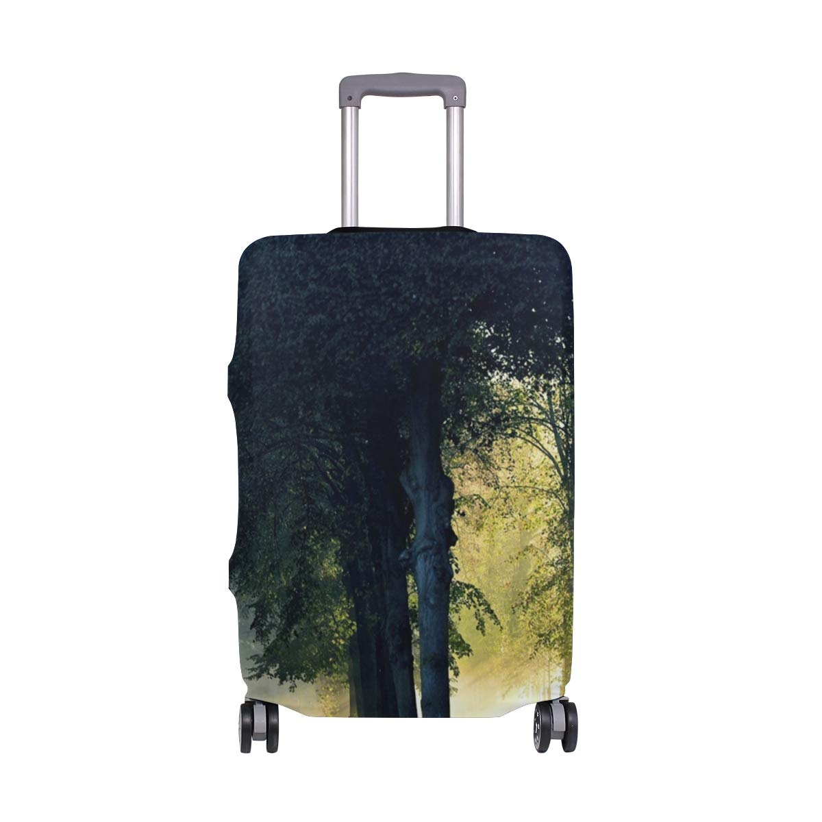 Forest Trees Morning Sunlight Fog Autumn suitcase cover elastic suitcase cover zipper luggage case removable cleaning suitable for 29-32 trunk cover