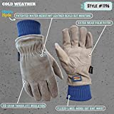 Mens Winter Work Gloves, Water Resistant Very Warm 100-gram Thinsulate, HydraHyde, Large (Wells Lamont 1196L)