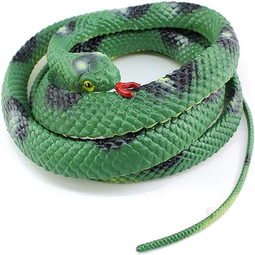 Simulación serpiente juguete realista pitón cobra modelo Halloween ...