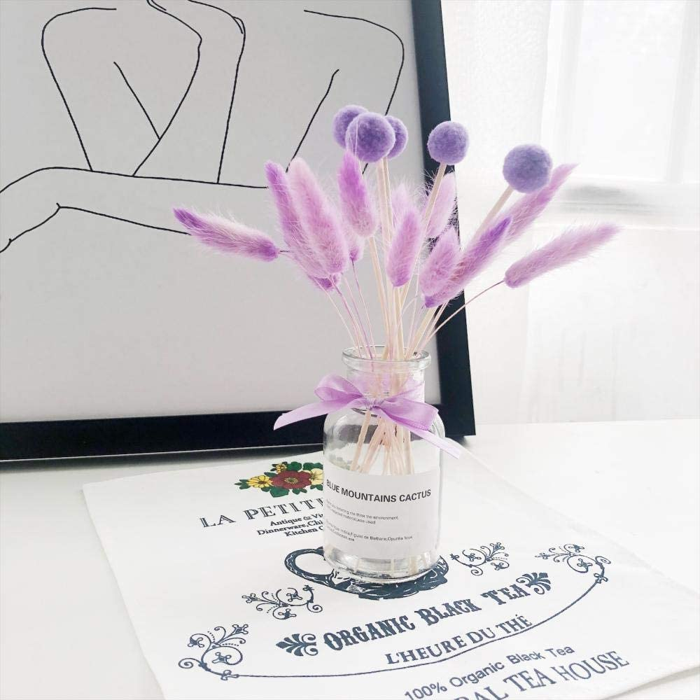 Anfangs unver ndert La Botella de Cristal secó la decoración de Escritorio de la Flor de la decoración de los apoyos de la Foto@Bola Morada no.1