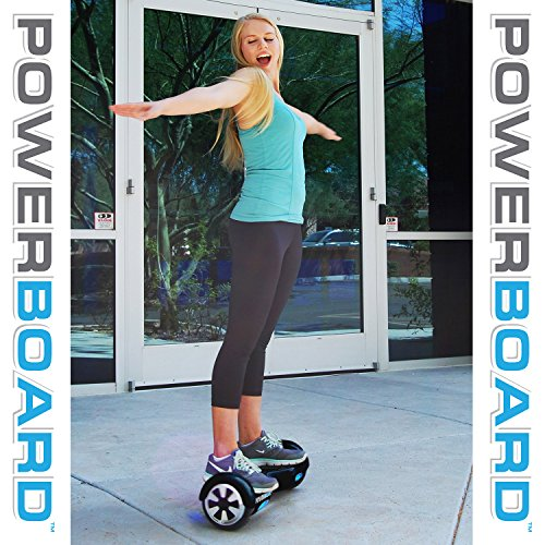 Powerboard by HOVERBOARD – (SAFE UL 2272 CERTIFIED) Black – 2 Wheel Self Balancing Scooter with LED Lights – Hands Free Battery Powered Electric Motor –Personal Transporter – USA Company