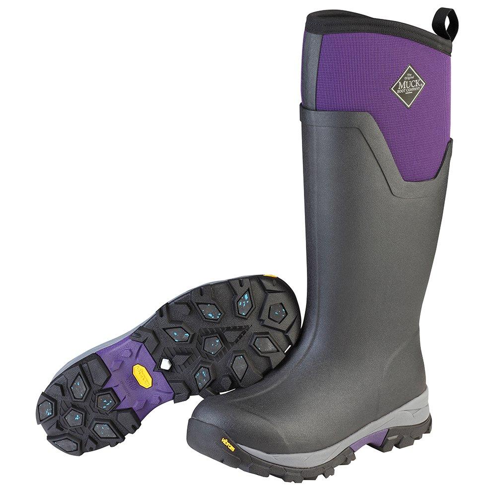 Muck Boot Women's Arctic Ice Tall Work Boot, Black/Purple, 9 M US