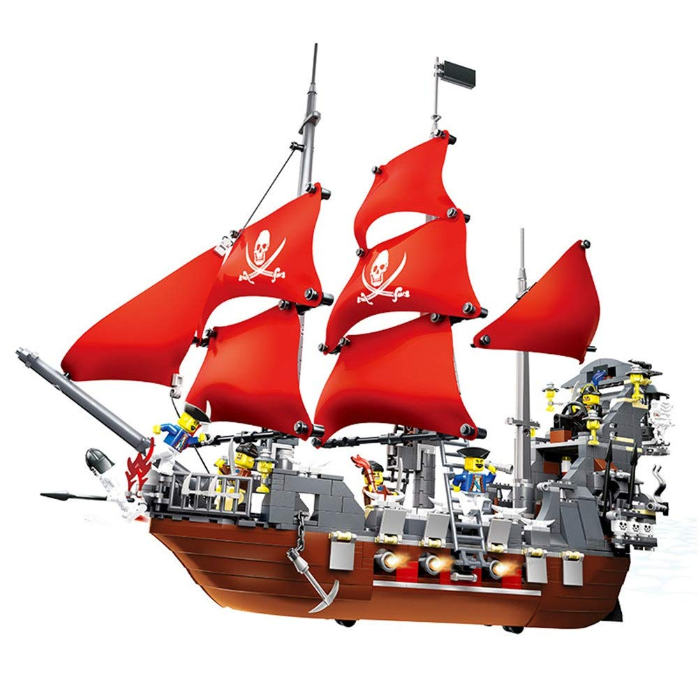 ZnMig Children 3-12 Years Old Children Building Blocks Pirate Ship Children Puzzle Small Particles Toy Early Education Puzzle Building Blocks Toys (Color : Multi-Colored, Size : One Size)