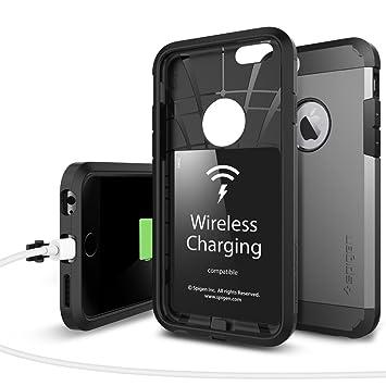 Spigen SGP11560 - Funda para iPhone 6 / 6S, Plata/Negro