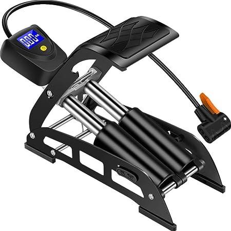 Mini pompe à vélo pompe à air pompe à vélo Auto Schrader et valve Presta noir