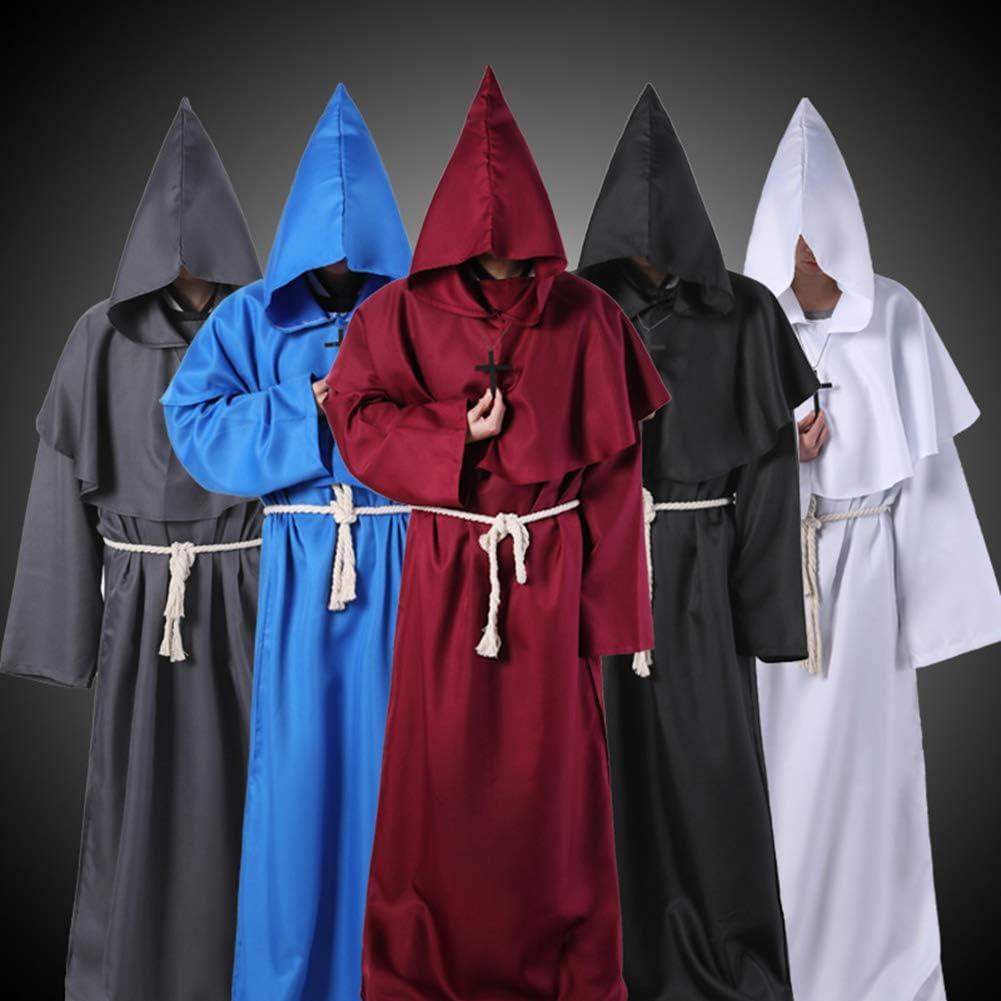 Amazon.com: Disfraz de monje Redsa, bata medieval con ...