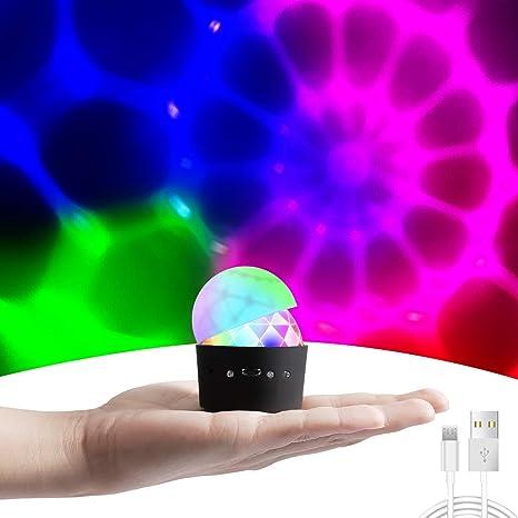 Luces Discoteca, Cobiz Mini Bola de Discoteca LED Iluminacion Discoteca 3 Colores RGB Luces Fiesta Mágica Iluminación de Efecto para KTV Navidad ...