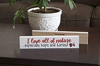 product image for Imagine Design Relatively Funny I Love All Nature Especially, Stick Plaque, Red/Black/White