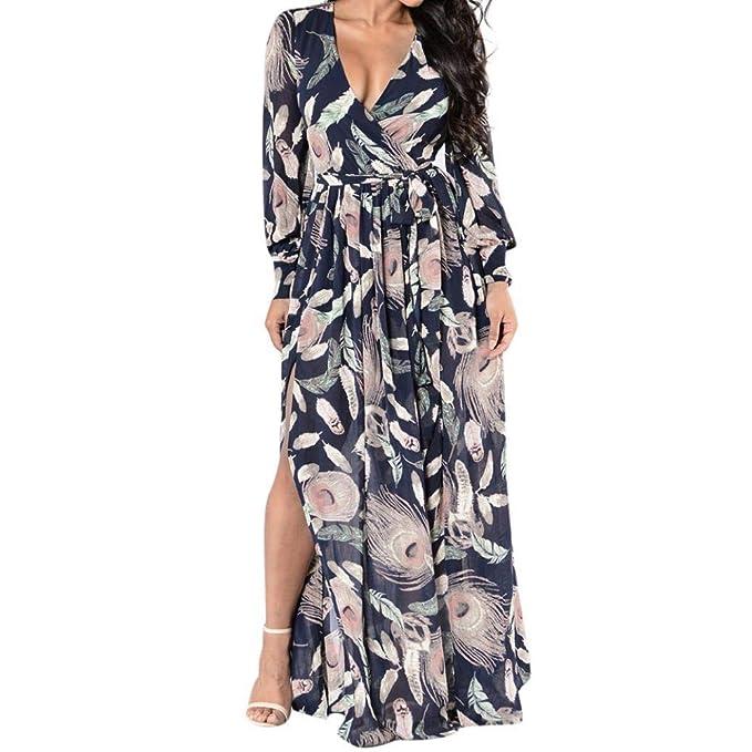 POLP Vestidos Largo Mujer ◉ω◉ Ropa otoño Mujer Vestidos Sueltos Mujer  Verano 4455a7c6077e
