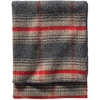 1f7c2f5d4c Amazon.com  Pendleton Maroon Thunder and Earthquake Wool Blanket ...