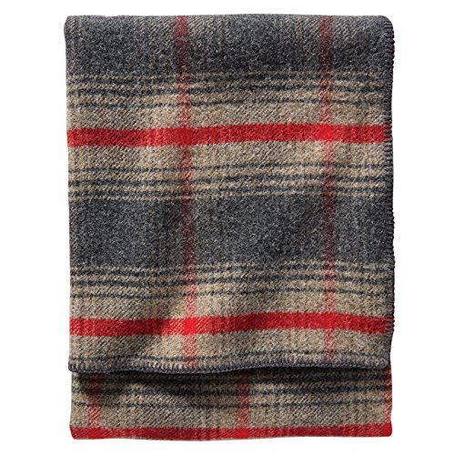 Pendleton Eco-Wise Easy Care Wool Blanket, Oxford Waverly, Queen Size