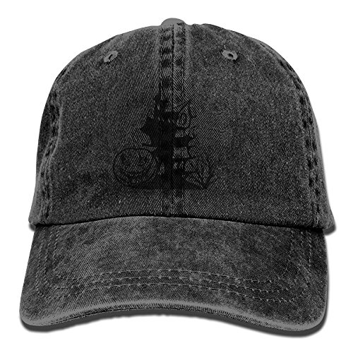 Halloween Pumpkin House Unisex Washed Baseball Cap Adjustable Cowboy Cotton Ball Hat (Debbie Reynolds Halloween)