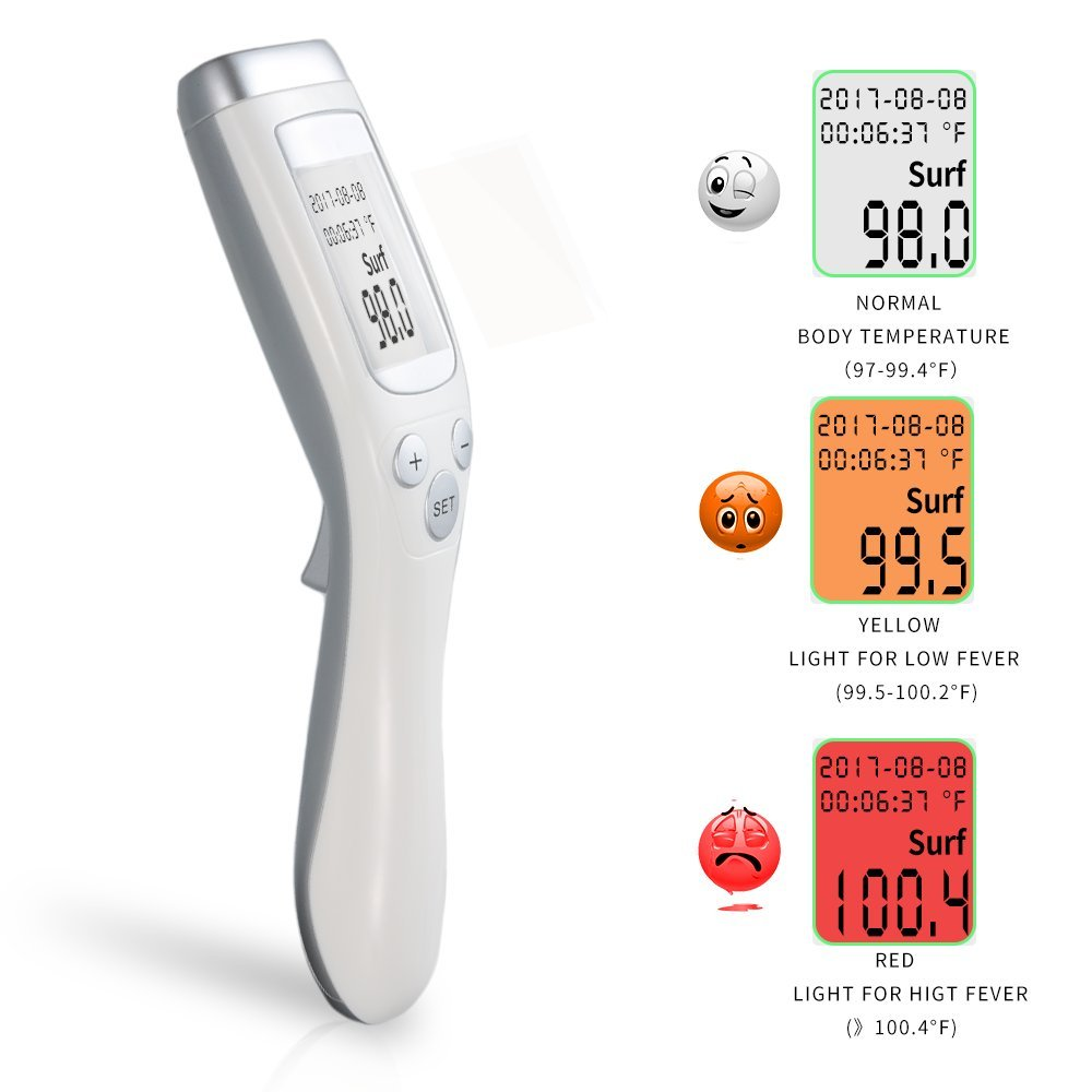 Forhead Thermometer- NIUKU Non Contact Infrared Thermometer for Baby/Infant/Toddler/Adults,Surface& Room with CE and RoHS Approved ??