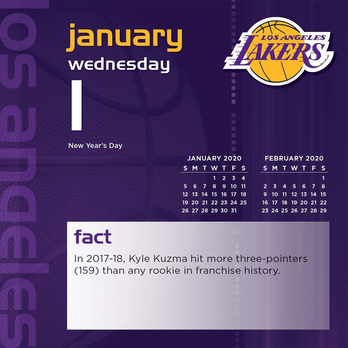 Los Angeles Lakers 2020 Calendar: Amazon.es: Inc. Lang Companies ...