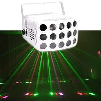 DJXITER Luces de fiesta RGB 15 Lente 23 patrones Proyector DJ ...