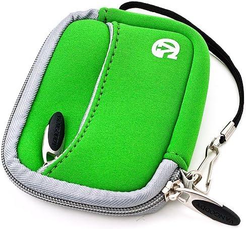 and Screen Protector and Mini Tripod Stand M575 Mini Digital Cameras M341 M530 M381 M380 M550 Touch VanGoddy Mini Glove Sleeve Pouch Case for Kodak EasyShare M340 C140 Green Gray Trim M590