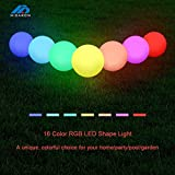 Mini Led Glowing Light Up 16 Color Changing Rechargeable Decoration Ball (12cm)