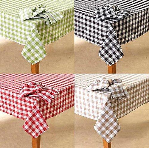 Lintex Buffalo Check Tablecloth - Buffalo Check Tablecloth By Lintex, Black, 52