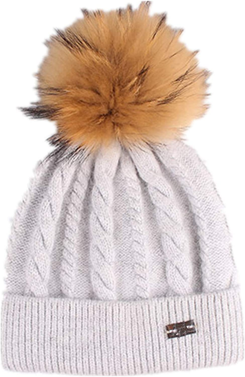 Womens Winter Knitting Beanies Hat,Fashion Pompom Beanie Hat Knitted Hats Girls Outdoor Cap