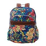 Sakroots Women's Artist Circle Classic Backpack, Royal Flower Power
