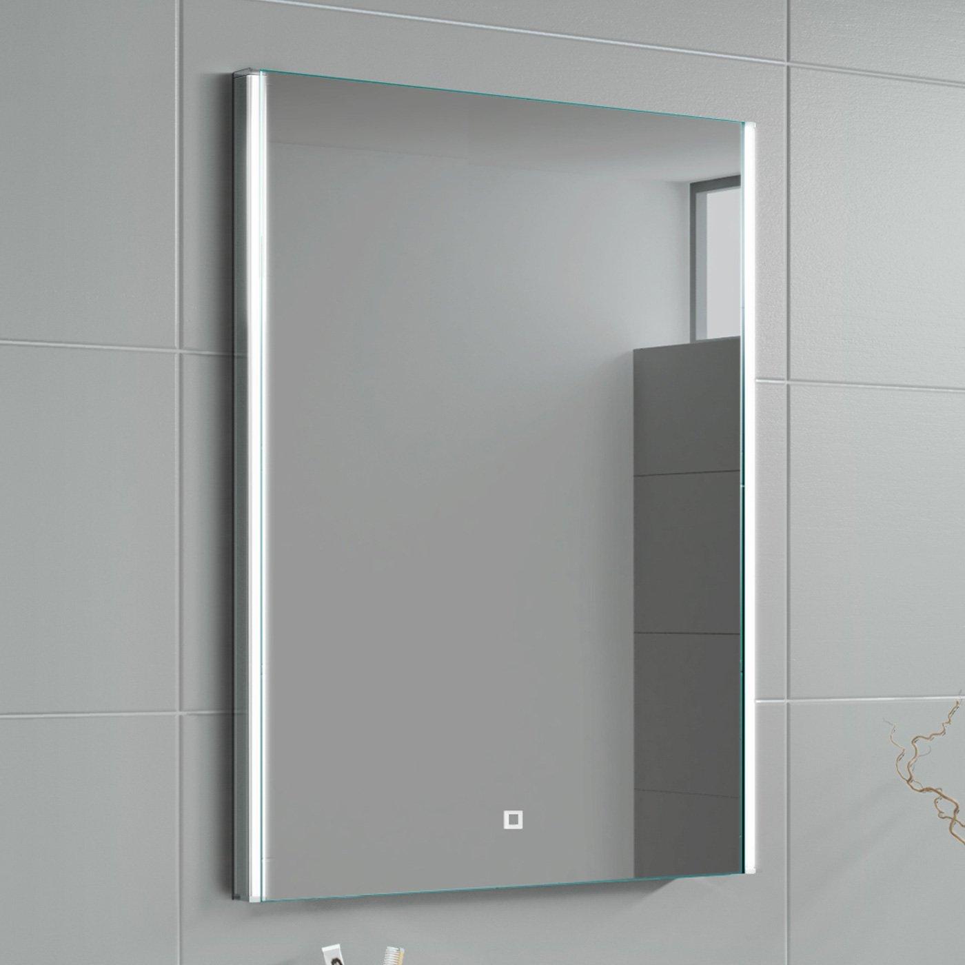 Design Moderno soak Specchio per Bagno con Illuminazione a LED e Sensore Tattile Luce 700 x 500 mm
