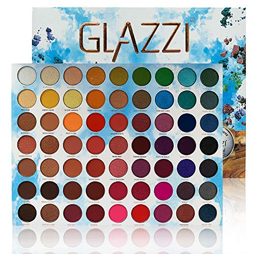 GLAZZI Makeup Palette 63 Colors Shimmer and Matte Eyeshadow Supper Pigmented Long Lasting with Mirror Stage Colorful Make up Palette Professional Cosmetic Big Tray Powder Eye Shadow