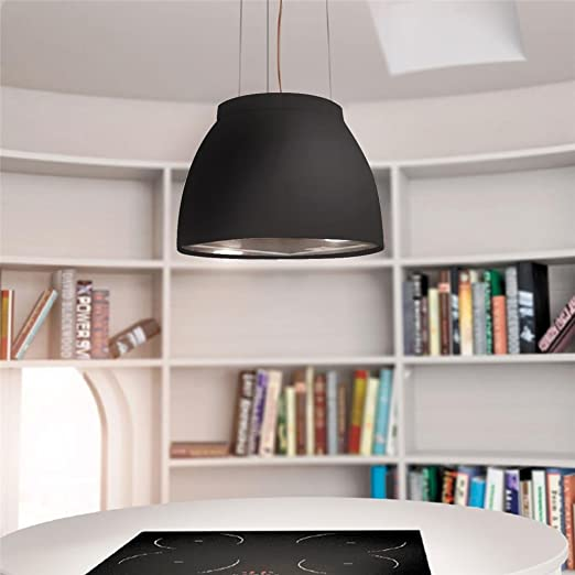 Cappa cucina Airforce sospesa Nera Luna Ø 45 cm: Amazon.it: Grandi ...