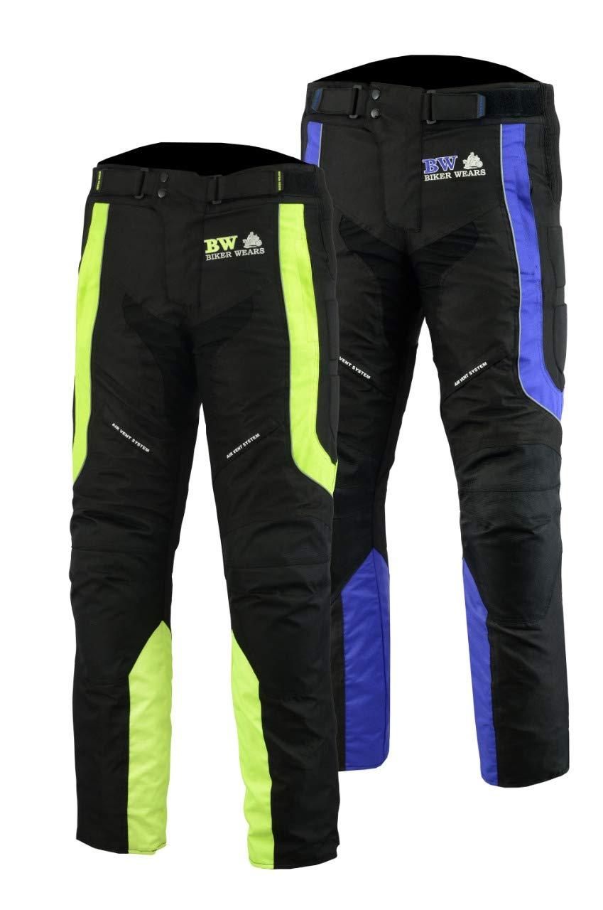 Biker Wears Ltd Herren Designer Schutz Thermo Motorrad Motorrad wasserdichte Hosen Hosen MENS-MOTO-TROUSER-BLUE-BLK-W30-L32