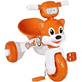 Fun Ride Baby Easy to Fold and Store Charlie Foldable Tricycle with Music and Lights for Indoors (2 -4 Years, Weight Upto 18 Kg)