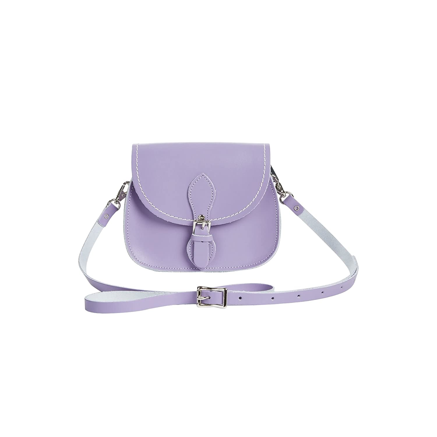 ff827f4828ca0 Amazon.com: Zatchels Womens Handcrafted Pastel Leather Micro Saddle Bag  (British Made) (One Size) (Baby Blue): Clothing