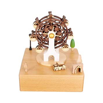 Christmas Ferris Wheel Music Box.Celsy Wind Up Musical Box Smart Wood Music Box As Birthday Gift And Christmas Gift For Lover Friends And Children Ferris Wheel