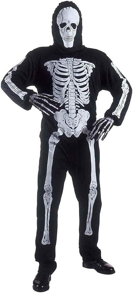 Halloween Kostüm Kostüm Groß Skelett Herren T-Shirt Scary Party Zombie