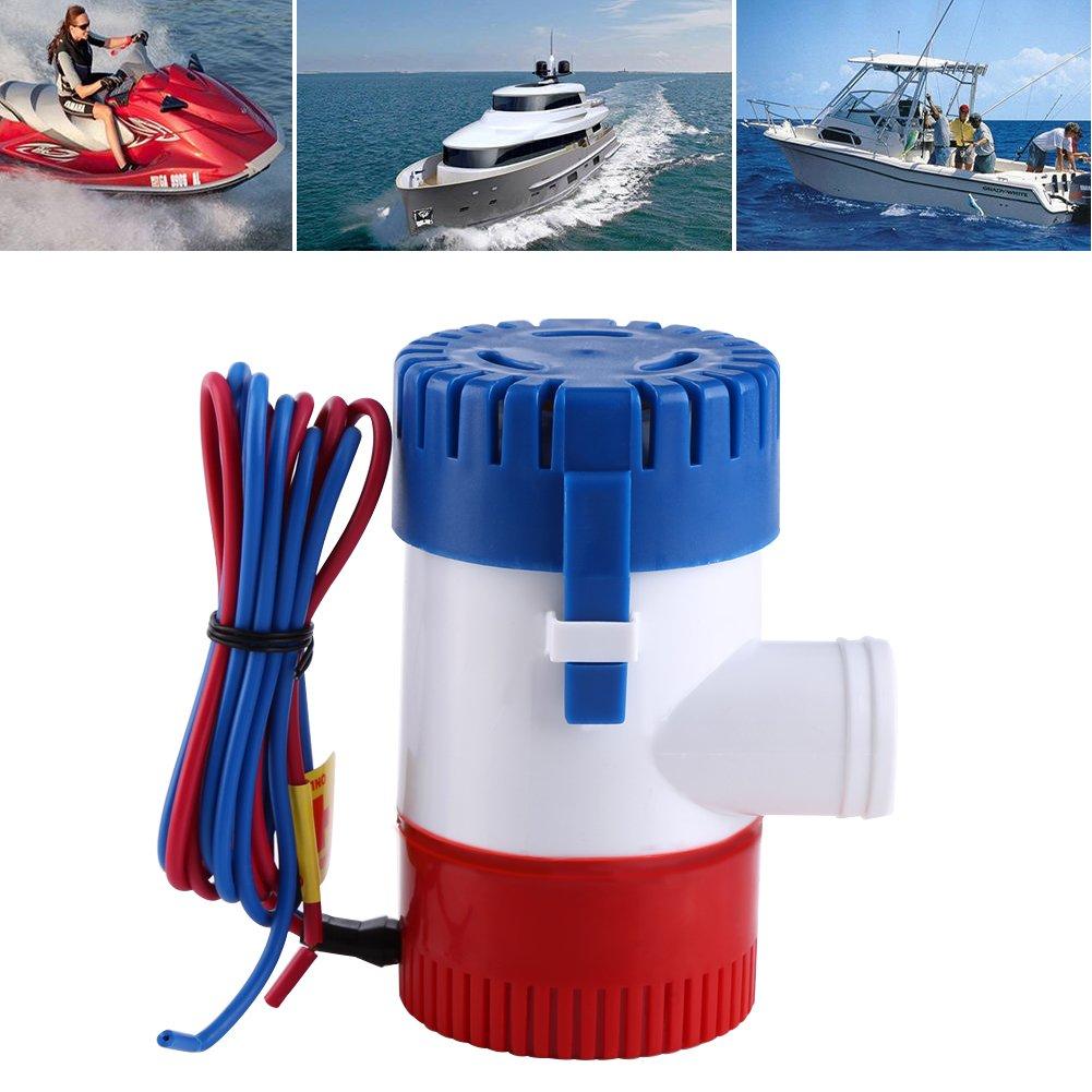 Cocoarm Bilge Pumpe 12V 1100 GPH Bilgepumpe Bootsport Elektrische Lenzpumpe Miniatur Bilgepumpe voll Tauchen Manuelle Submersible Boat