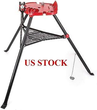 "460 6/"" Tripod Pipe Chain Vise Stand w// Steel Legs /& Rubber Mounts hlk"