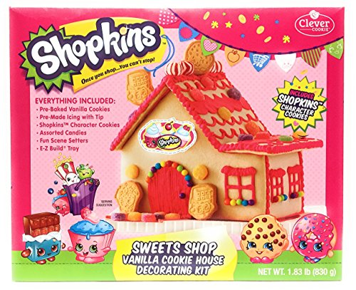Shopkins Sweets Shop Vanilla Cookie House Decorating Kit (Cookie House Kit)