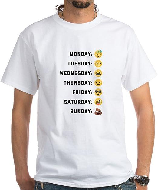 New Emoji shirt size S M L XL Long Sleeve shirt Emoji days of the week Emoji