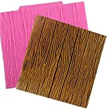 Wood Grain Tree Bark Silicone Decorating Mold - Baking and Decorating Molds From Bakell (Fondant, Candy, Ice Tray, Chocolate, Gumpaste)