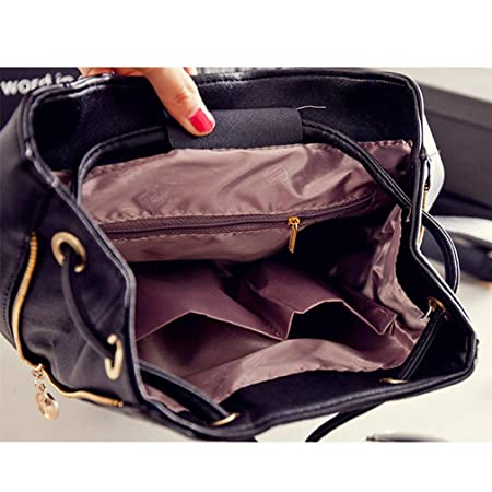Amazon.com | Backpack Women Pu Leather Female Backpacks Teenager School Bags Mochila Feminina Rucksack Mochilas Mujer as pic show1 12 Inches | Kids ...