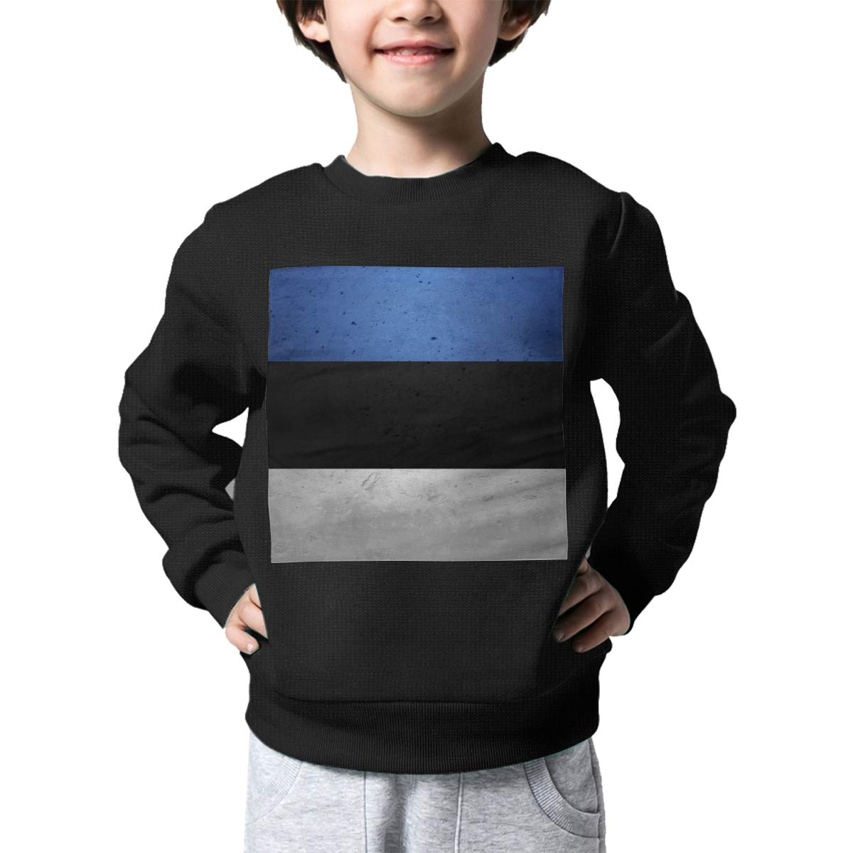 Boys Girls Vintage Estonia Flag Lovely Sweaters Soft Warm Unisex Children Kids Sweater