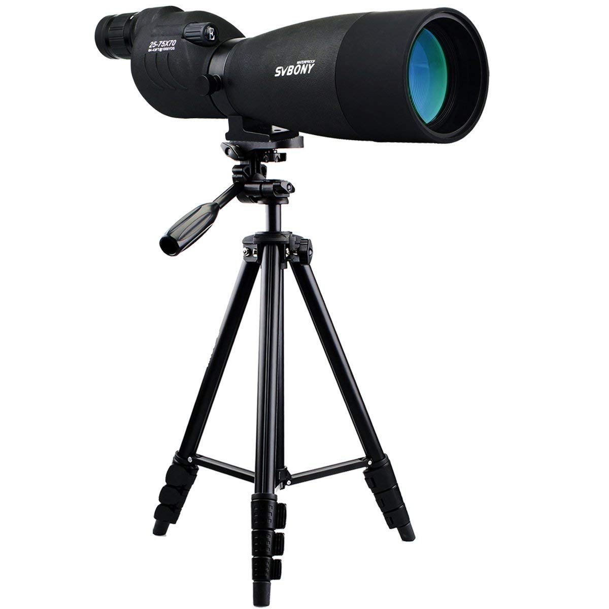SVBONY SV17 Spotting Scope Straight with Tripod Telescope for Bird Watching Target Shooting Wildlife Viewing BAK4 Prism 4-Section Tripod by SVBONY
