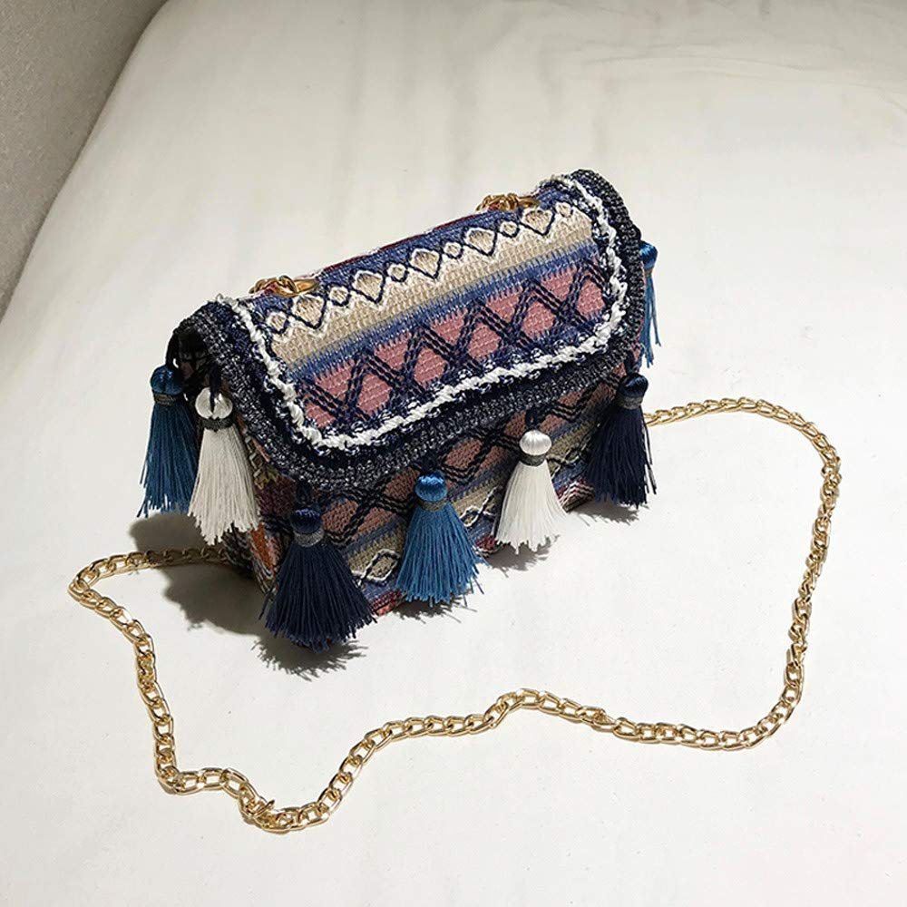 ALIKEEY Vintage Mujeres Tejiendo Borla Bolso De Hombro Messenger Bag Bolso Crossbody Bolsa De Playa Michael Kors: Amazon.es: Equipaje