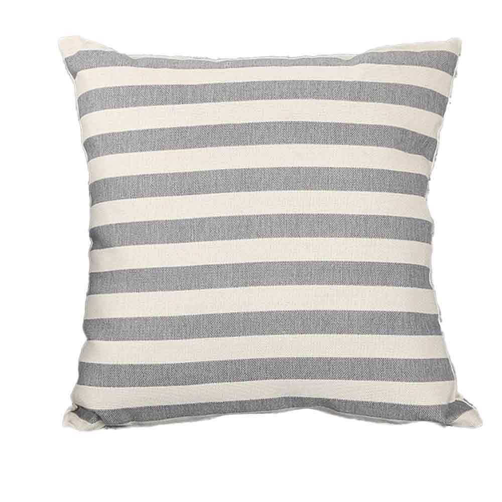 Pillow Cases, E-Scenery Clearance Sale! Stripe Square Decorative Throw Pillow Covers Cushion Cases for Sofa Bedroom Car Home Decor, 18 x 18 Inch (Gray)