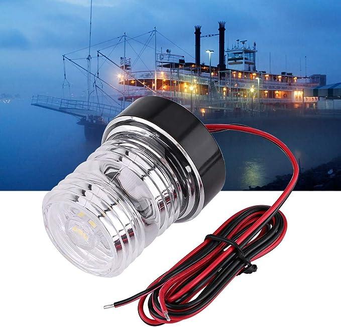 Luz de 360 /° LED Blanco Luz de Navegaci/ón para Barcos Yates IP65 Impermeable KAOLALI Luces para Barcos