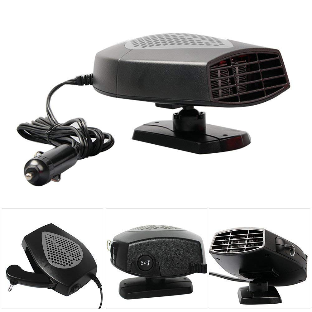 MASO Portable Car Heater 12V 150W High Power in Car Heater Fast Heating Fan for Defrosting Automobile Windscreen /& Keeping Warm