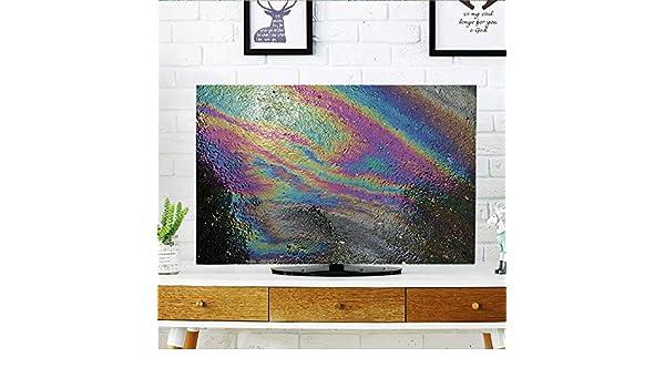 Analisahome Protege tu TV Aceite derrame Sobre Fondo de Asfalto Carretera o Textura Protege tu TV W19 x H30 Pulgadas/TV 32 Pulgadas: Amazon.es: Hogar