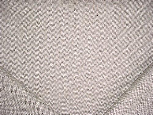 / Silver Herringbone Zig Zag Chevron Ikat Bargello Linen Tweed Cotton - Polyester Lined Designer Upholstery Drapery Fabric - By the Yard (Linen Designer Upholstery Fabric)