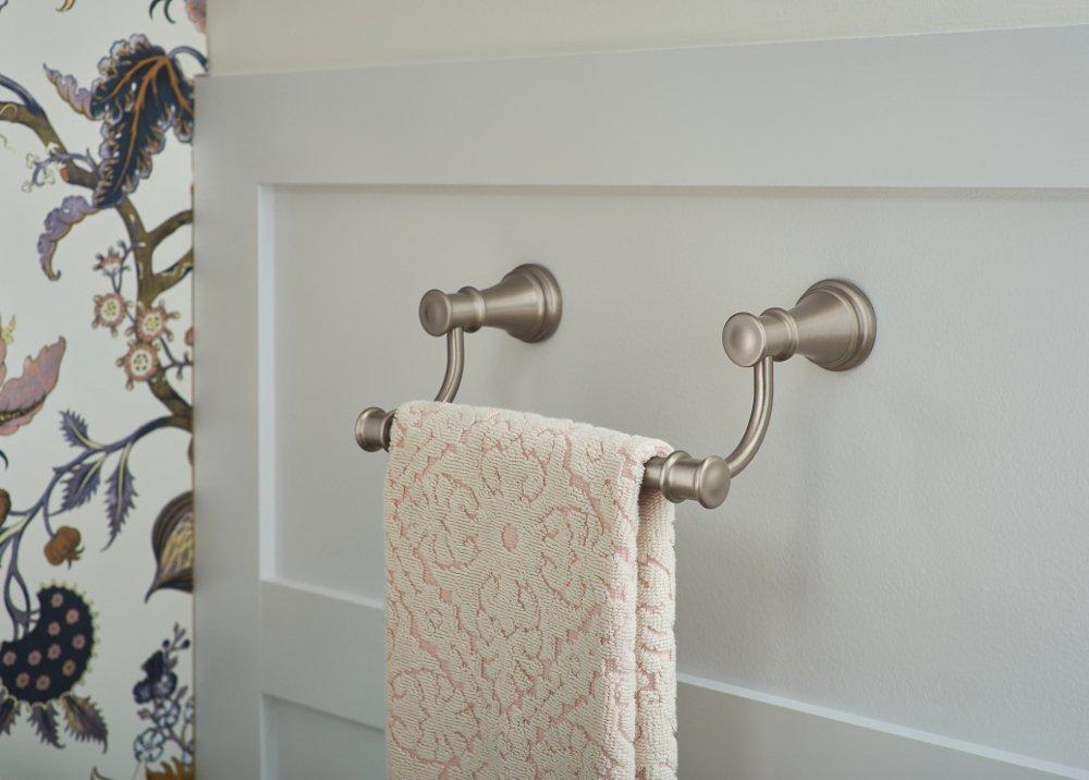 Chrome Moen YB6486CH Belfield 9-Inch Bathroom Hand Towel Bar