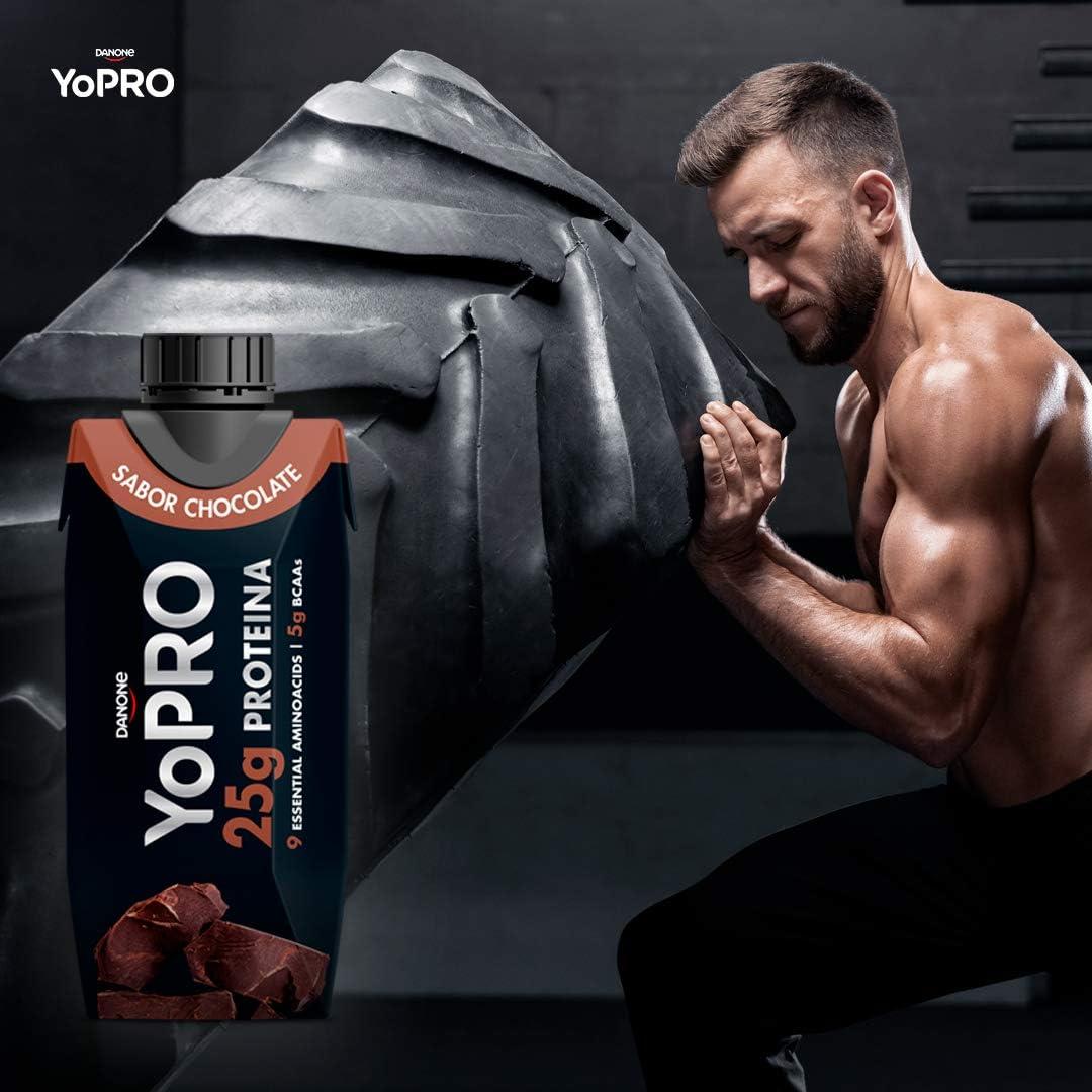 YoPRO Pack 8 unidades batido 25G de Proteína sabor chocolate de 330 ml - Total 8 x 330 ml